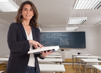 Smiling female teacher