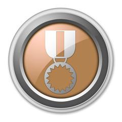 "Bronze 3D Style Button ""Award Medal"""