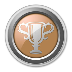 "Bronze 3D Style Button ""Award Cup"""
