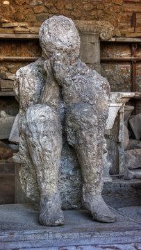Pompeii Ash Person Remains