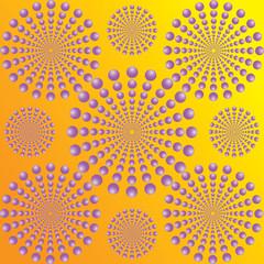 Wall Murals Psychedelic moving circles