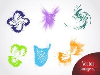 Vector grunge design set