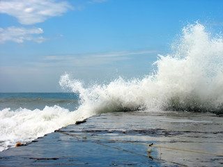 Wave of sea