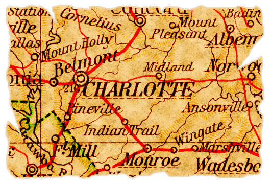Charlotte old map