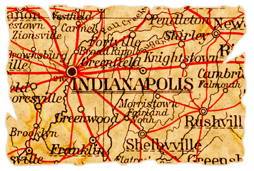 Indianapolis old map
