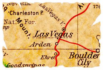 Las Vegas old map