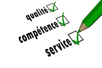 service - compétence - qualité