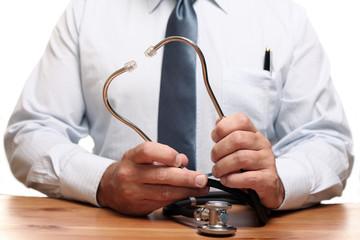 Medical Doctor holding stethoscope