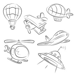 Air Transport Vector Set