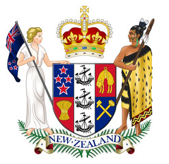 Wall Mural - New Zealand Coat of Arms