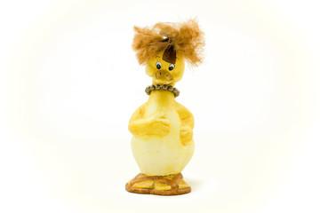 Ceramic duck figurine