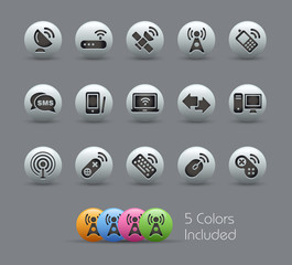 Wireless & Communications / The vector file includes 5 colors