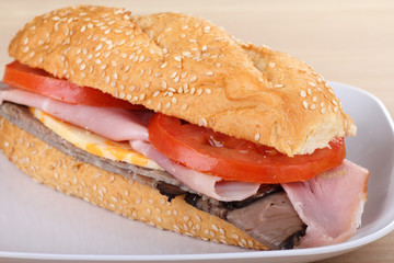 Ham and Roast Beef Sandwich