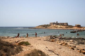 Fototapete - Sicilia-Isola delle correnti separazione tra ionio e tirreno