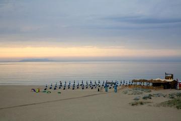 Beach in Valledoria, Sardinia, Italy