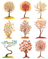 9 trees icons
