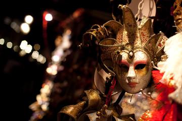 Luxury venetian mask at night