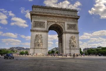 Photo sur Toile Paris Arc de Triomphe - Paris (France)