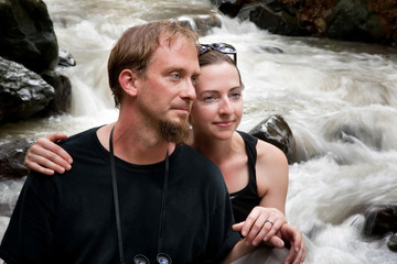 European and American couple in Costa Rica