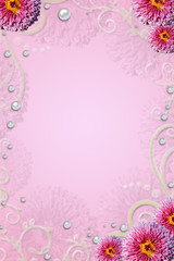 Abstract background with pink fliwers