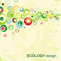 Ecology design. Vector.