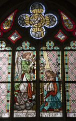 Banska Stiavnica - Annunciation from windowpane
