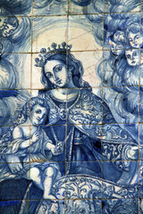 Virgen del Carmen, retablo cerámico