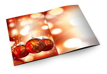 Ilustracion 3d de una tarjeta de Navidad