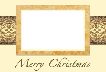 Tarjeta de Navidad, para añadir su foto o texto