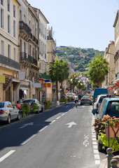A side street in Sete, Southern France