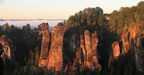 Morgensonne auf der Bastei