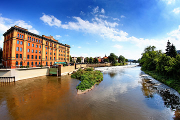 Die Pfortmühle in Hameln an der Weser,Deutschland
