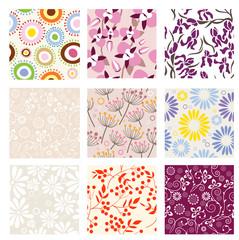 Set of vector seamless patterns. Part 5