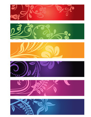 Set of different banners