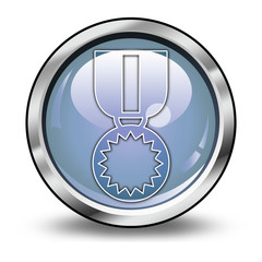 """Glossy Button """"Award Medal"""""""