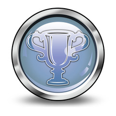 """Glossy Button """"Award Cup"""""""