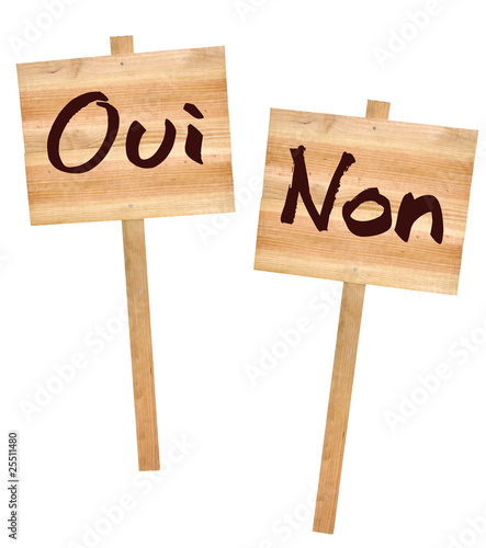 Pancarte oui non photo libre de droits sur la banque d for Oui non minimaliste