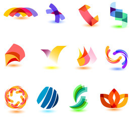 Modern colorfull symbols for your design