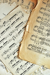 Old music sheet pages background