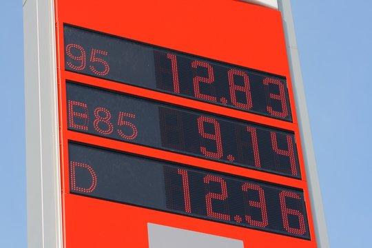 Tankstelle mit Ethanol-Kraftstoff E85