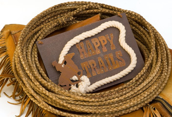 Happy Trails Western Theme Sign
