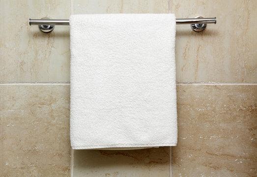 towel on a hanger