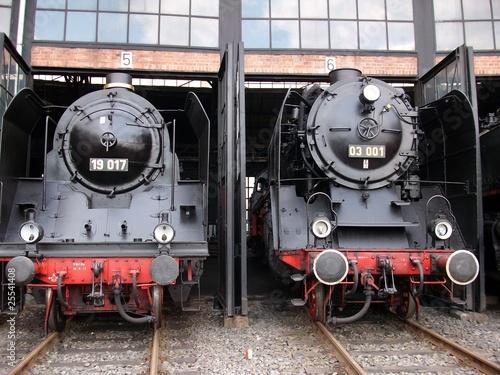 historische Dampflok BR 19 und BR 03\
