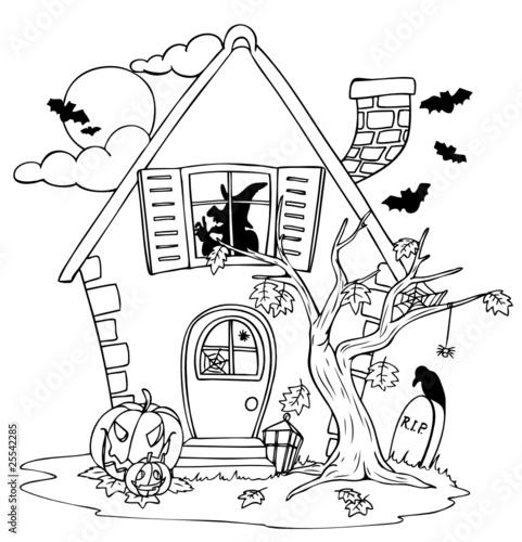 Halloween, Halloweenhaus, Haus, Hexe, Hexenhaus\