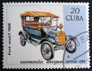 CUBA - CIRCA 1984. Ford mod.T, 1908.