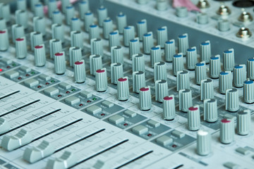 Adjusting equipment for sound record, Mixing console