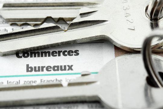 clés de commerces  et bureaux