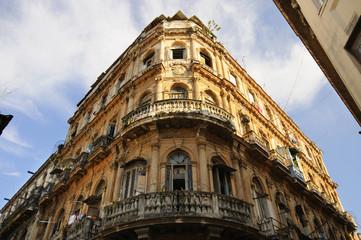 Vintage Havana building facade