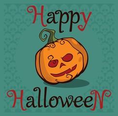 Halloween inscription
