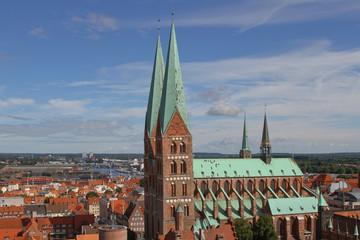 Blick auf die St. Marien Kirche von Lübeck